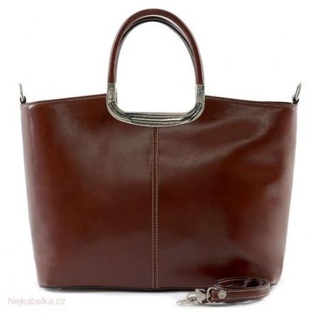 Kožená kabelka velká hnědá  34cfb50d8e1