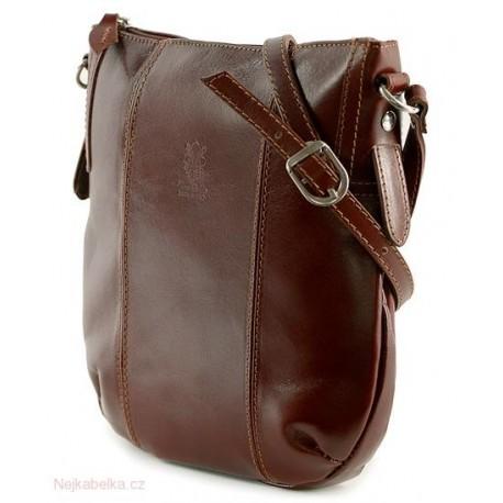 5533bce04590 Kožená kabelka crossbody malá hnědá (čokoláda)