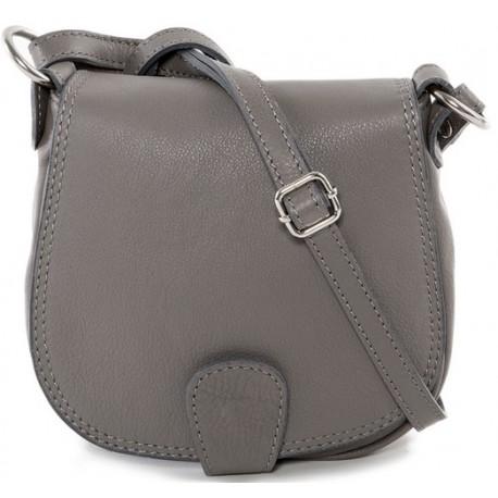 Kožená kabelka crossbody malá šedá 8db8c1b7b09