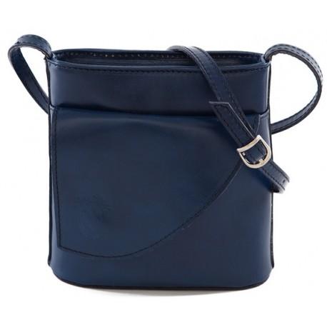 Kožená kabelka malá tmavě modrá 33b305e944a