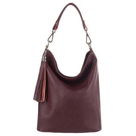 Kožená kabelka shopper KAVY 2359