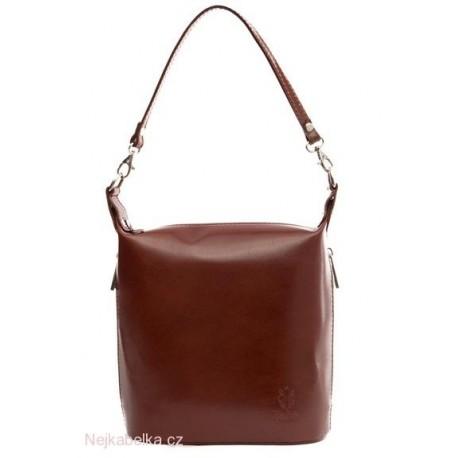 Kožená kabelka crossbody střední hnědá (čokoláda)  6727927a683