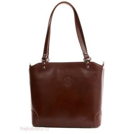 Kožená kabelka velká hnědá (čokoláda)  ce5c4841b01